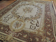 Gorgeous 8x10 Soumak Florence Style Wool Oriental Area Rug Brown Beige French