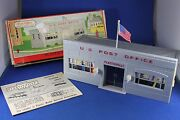 Plasticville - O-o27 - 1602 - Post Office - Excellent Cond - Complete - Htf Box