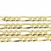 18k Yellow Gold Figaro Chain Necklace 16new 24.00g2486a