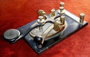 Wwii Us Army Signal Corps Type J-38 Semco Telegraph Key W/ 2 Wooden Box Sounders
