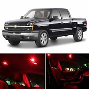Red Car Led Lights Interior Package Kit For Chevy Silverado 99-06 Bulb