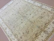 6and039 X 9and039 Light Brown Beige All-over Oushak Oriental Rug Hand Knotted Wool Office