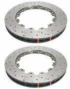 Dba Front Drilled Slotted Brake Rotors 5000 For 2009-2011 Nissan Gt-r 380x34mm