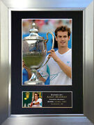Andy Murray Tennis Signed Autograph Mounted Photo Reproduction A4 Print 43