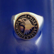 101st Airborne Screaming Eagles Ring Solid Sterling Silver