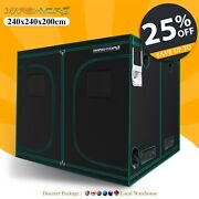 Mars Hydro 8and039x8and039x7and039 Indoor Grow Tent Room Home Box Plant Hut Reflective Mylar