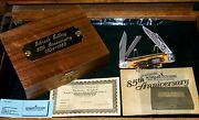 Schrade 804 Knife Stag Whittler 85th Anniversary 3-7/8 1989 W/packagingpapers