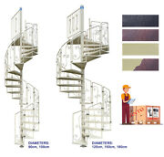 Spiral Staircase Mod. Asgaard - Galvanized And Painted - Modular Kit - Uk