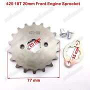 420 18t 20mm Front Engine Sprocket For Atv Thumpstar Ycf Ssr Dirt Monkey Pitbike