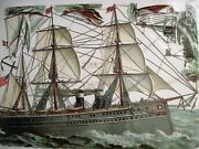 Vintage Gorgeous Die-cuts Of Sailing/steam Boats Never Been Used