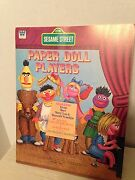 Vintage Sesame Street Paper Doll Players. Unpunched From Whitman 1976