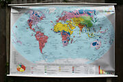 Pull Down Roll Down School Wall Map Of The World -religion