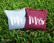 8 Mr And Mrs Classic Series Cornhole Bags - Corn Filled By Get Outside Games