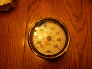 New Chapparral Speedometer Gauge 10-65 Mph Silver Face And Rim 4.25 Hole B4