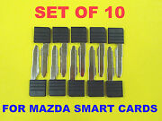 New Set Of 10 Smart Card Replacement Emergency Key D4y1-76-2gxa No Chip Lot Bulk