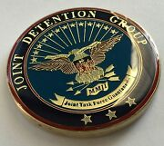 Gtmo Joint Detention Grp Task Force Guantanamo Bay Cmdr Oef Challenge Coin Nice