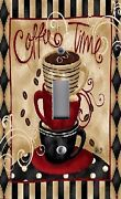 Light Switch Plate Outlet Covers Kitchen Decor Coffee Time Mug Cup