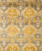 8and039x11and039 Loloi Rug Xavier Jute Grey Gold Hand Knotted Transitional Xv-04