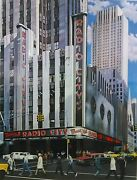 Ken Keeley Radio City Music Hall Serigraph Signed And Numbered 52/325