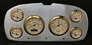 1957 1958 Plymouth 6 Gauge Dash Panel Insert Polished Aluminum Programmable Gl