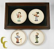 Lot Of 4 Hummel Miniature Collectorsand039 Plates 1984 - 1987 All Boxes Included