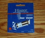 Hager Hardware Solid Brass Cd1755 120° Wide Angle Door Viewer New