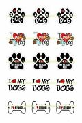 I Love Dogs 1 Circles Bottle Cap Images. 2.45-5.50 Free Shipping