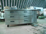 Delfield Remote Refrigerated Work Table W/ 6 Drawers