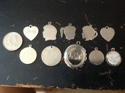 Collection Of 10 Pcs. Vintage Sterling Charms