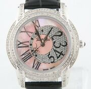 Joe Rodeo Stainless Steel And Diamond Quartz Watch Mop Dial Original Band Jbly-3