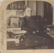1898 Stereoview Of President William Mckinley In The White House At Desk