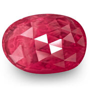 Igi Certified Burma Ruby 3.09 Cts Natural Untreated Rich Pinkish Red Oval
