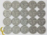 1922-1936 Canada 5 Cent Lot Most Vf-xf, 20 Coin George V Nickel Five 5c Km-29
