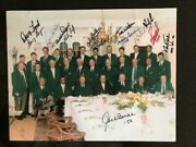 Masters Champs Hand Signed 11x14 Photo 16 Sigs Watson+arnie+seve Jsa Letter