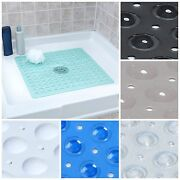 Large Non Slip Shower Mat With Drain Holes Slipx Solutions Square Shower Mat