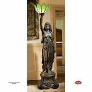 Antique 19th-century French Electra Maiden Of Light 70 Sculptural Floor Lamp