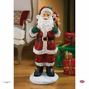 Christmas Eve With Jolly Old Santa Claus Sculpture 32 Handmade Statue