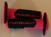 Motorcycle Grips Progrip 801 Off-road Flourencent Pink/black Half-waffle