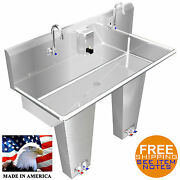 Wash Up Hand Sink 2 Users 48 Pedal Valve Multi Station