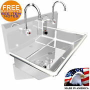 Wash Up Hand Sink 2 Users Multi Station 36 Elec Faucet