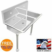 Industrial 2 Users Multistation Wash Up Hand Sink 36 Stainless Steel With Legs