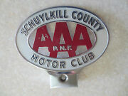 Vintage Aaa Schuylkill Pa Car Badge For Ford Chev Chrysler Dodge Buick Pontiac
