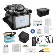 Ry-f600p Fusion Splicer W/optical Fiber Cleaver Automatic Focus 5.6 Lcd