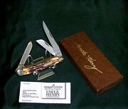 Schrade 897uh Knife Uncle Henry Premium Stockman 1970's W/packaging,papers Rare