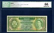 - Sale - Belize 1 Dollar Pick 33c Elizabeth Ii 1976 Icg 66 Choice Unc