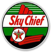 Texa-6 30 Texaco Sky Chief Gasoline Decal Gas And Oil Pump Sign Wall Sticker
