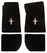 New 1965-1973 Ford Mustang Black Floor Mats Coupe Fb Set Of 4 Carpet In Stock