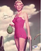 Doris Day Hand Signed 8x10 Photo  Awesome+rare   Gorgeous Red Swimsuit  Psa