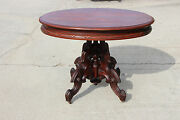 Magnificent Thomas Brooks Solid Walnut Large Victorian Center Table Ca.1870