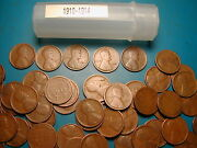 1910-1914 P Dates Mixed Lincoln Wheat Cent Roll 50 Coins